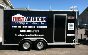 First American Roofing Enclosed Trailer