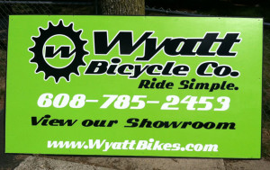 Wyatt Bicycle Sign