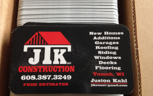 JTK Construction Business Cards