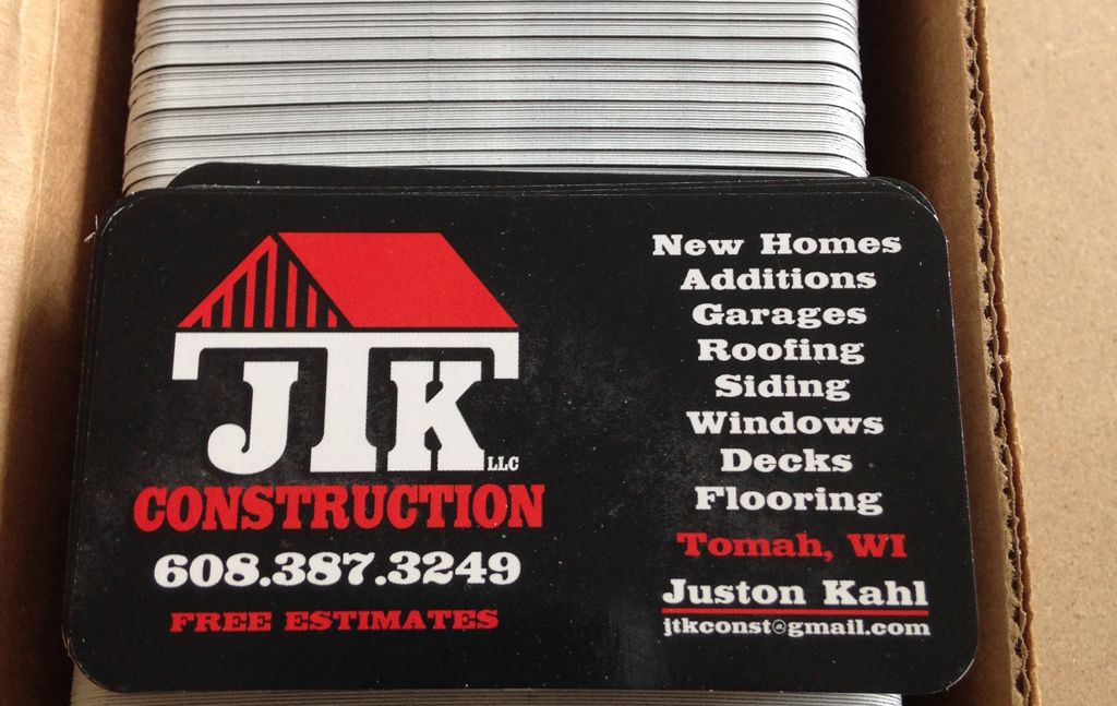 Jtk construction business cards klings designs reheart Image collections