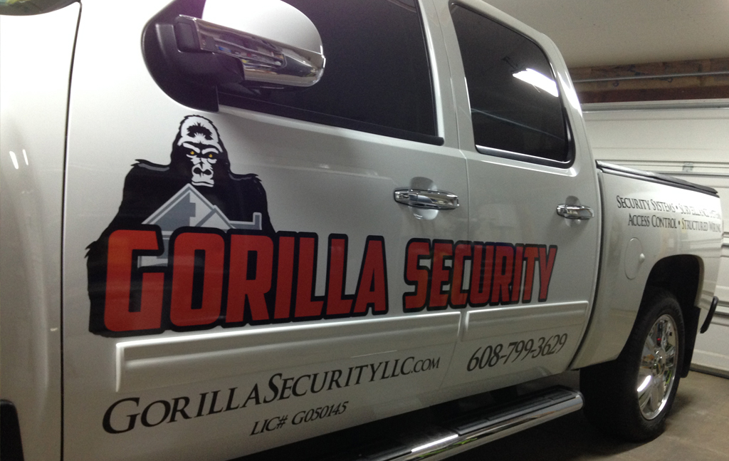 gorilla security vehicle lettering