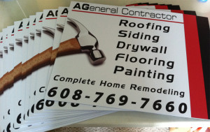 AGeneral Contractor Yard Signs