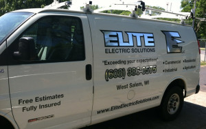 Elite Electric Van Lettering
