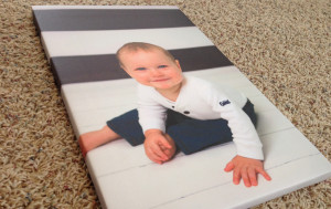 Boy Sitting Canvas Print